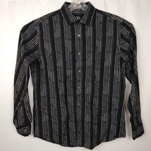 Bugatchi Uomo Large Striped Dress Shirt